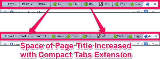 Compact Tabs to increase the size for page titles