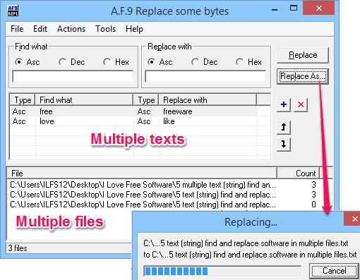Find and replace - A.F.9 Replace some bytes