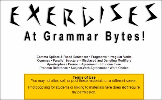 Grammar Bytes Exercise