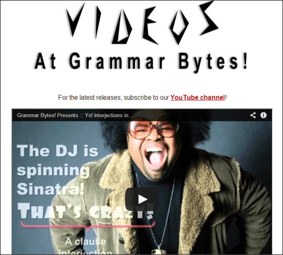 Grammar Bytes Videos