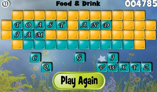 Hidden Garden Word Mystery-Game over