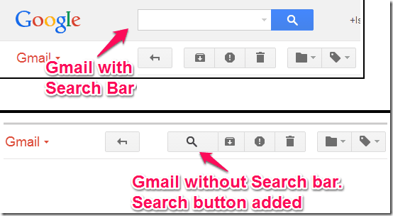 Hide gmail search bar