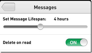 Message Lifespan