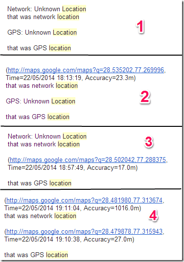 Network and GPS Location