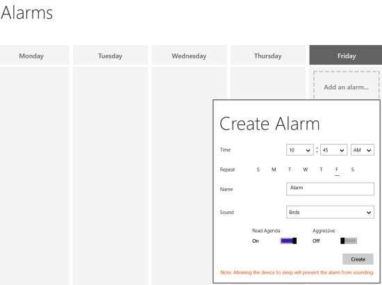 Night Stand HD 2-Create Alarm