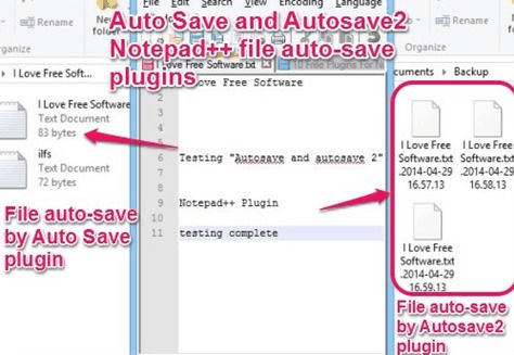 Notepad++ Plugins - Auto Save and Autosave2