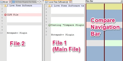Notepad++ Plugins - Compare