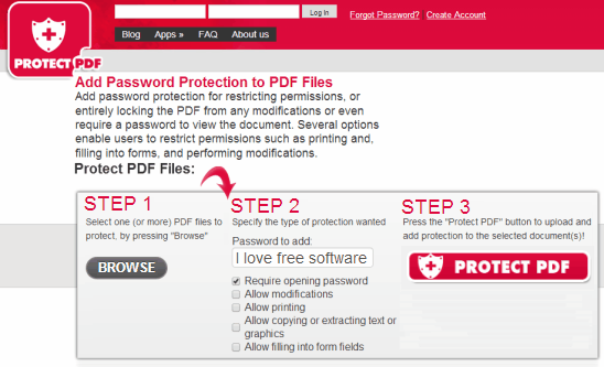 Password Protect PDF Online - FoxyUtils