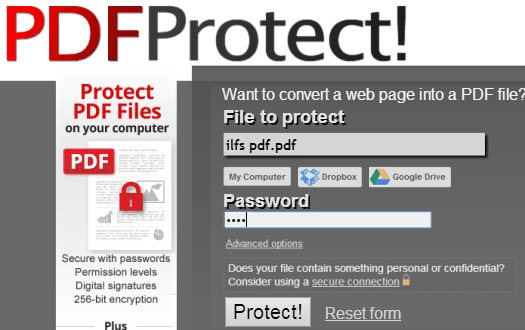 Password Protect PDF Online - pdfprotect.net