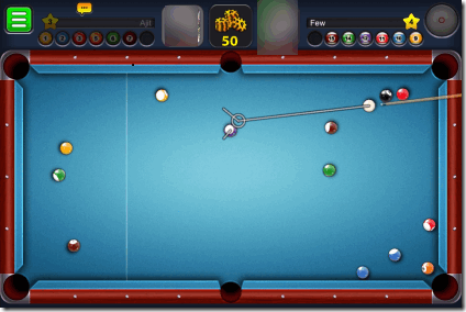 Playing 8 Ball Pool