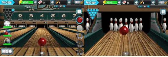 Playing PBA Bowling Challenge