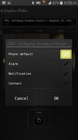 Ringtone Maker Delux For Android set ringtone