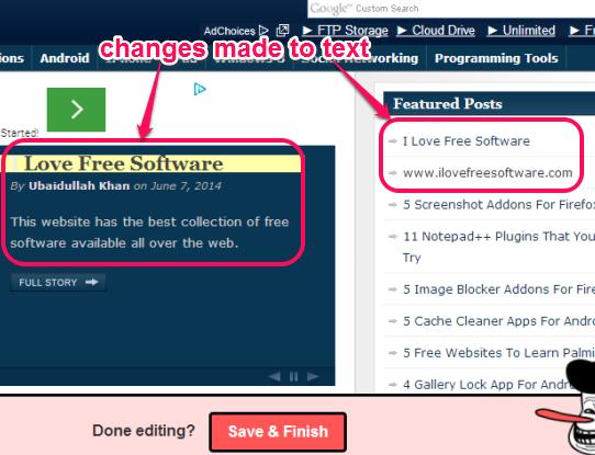SHRTUL- edit a webpage