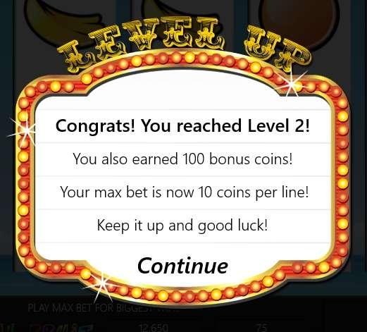 Slot Machine-Level Up