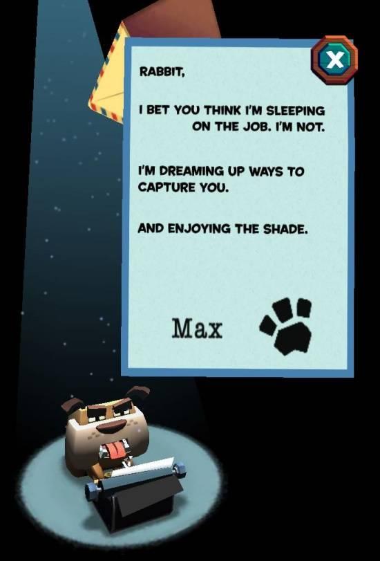 Stack Rabbit-Max letter