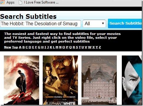 Subtitle Website - Subtitle4free