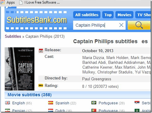 Subtitle Website - SubtitlesBank
