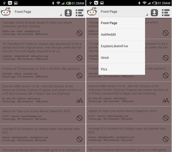 Using Reddit Offline for Android