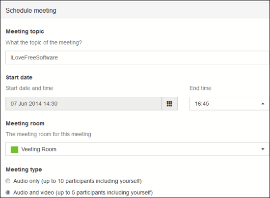 Veeting Room Schedule Meeting