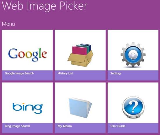 Web Image Picker-Home