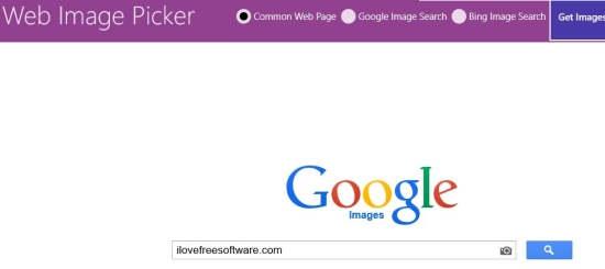 Web Image Picker-Options