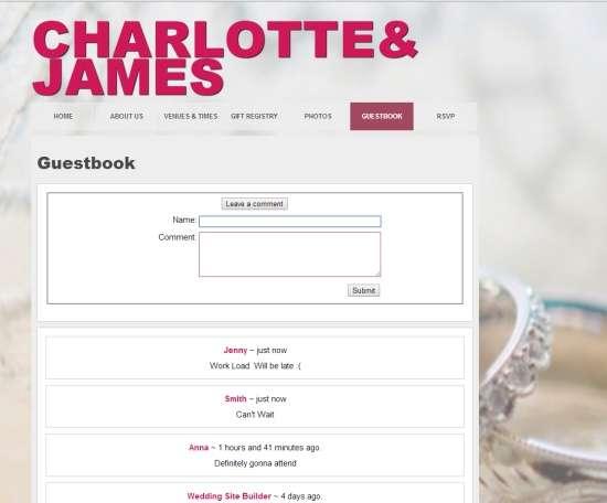 Wedding Site Builder-Guestbook