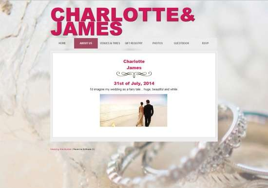 Wedding Site Builder-Home Page