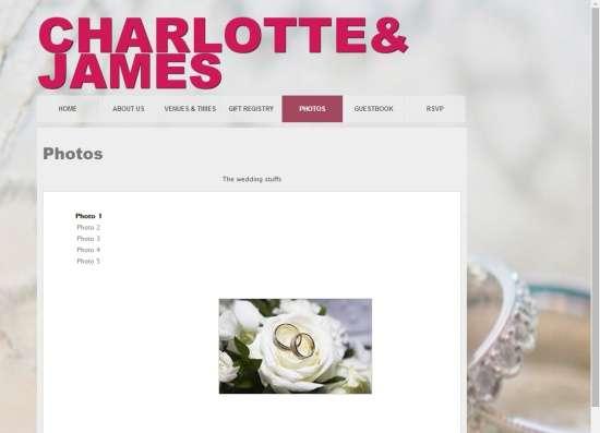 Wedding Site Builder-Photos