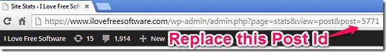 Wordpress Post Id in URL