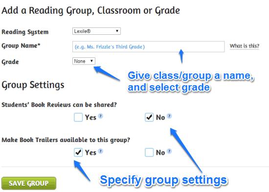 add classgroup biblionasium
