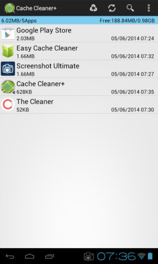 app cache cleaner apps android 5