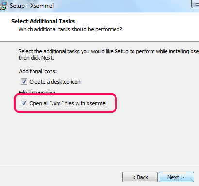 associate xml files with Xsemmel
