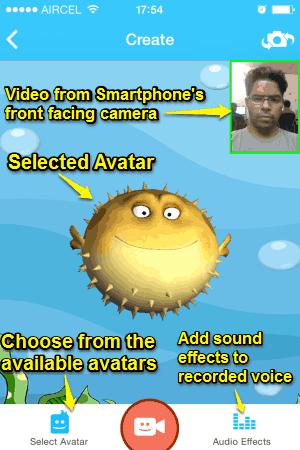 avatar message creation step 1