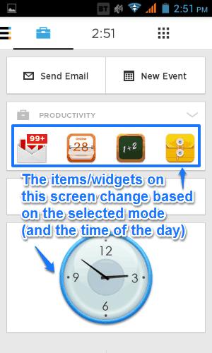 aviate contextual screen