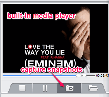 built-in media player
