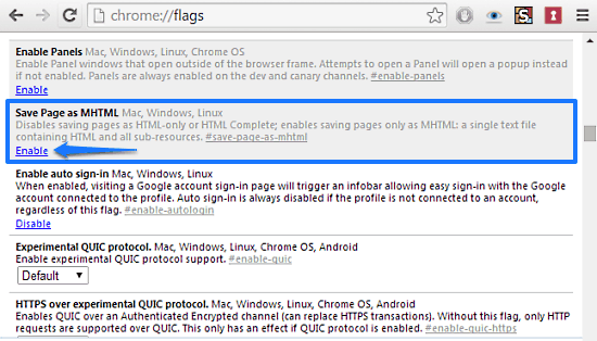 How To Save Web pages In MHTML Format In Google Chrome?