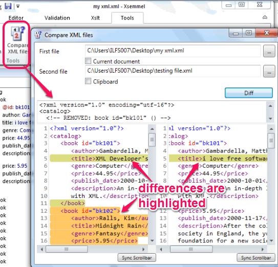 compare XML files