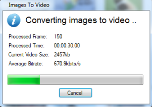 conversion process started