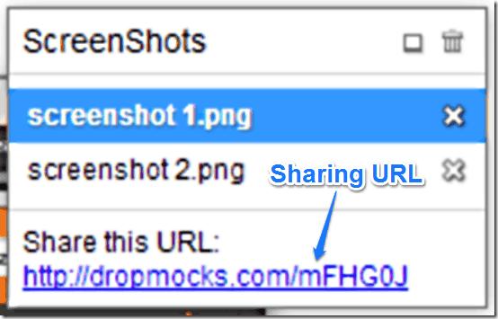 dropmocks sharing url