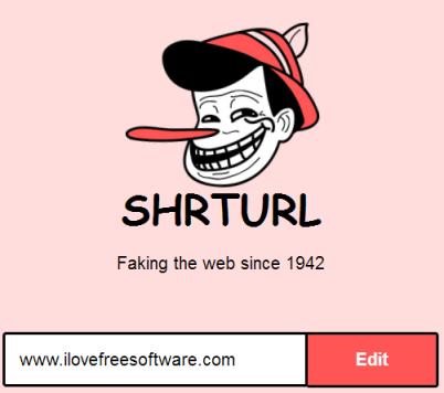 enter webpage address