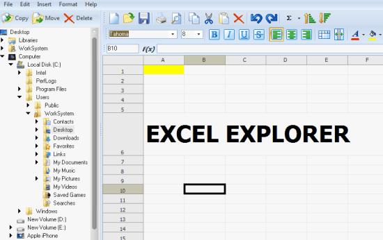 excel explorer header