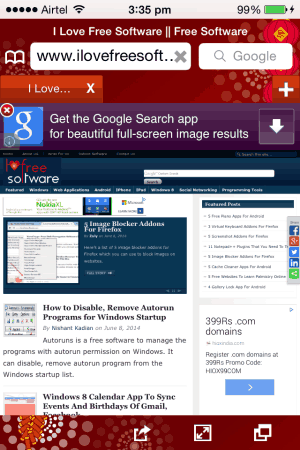 fast web browser homepage