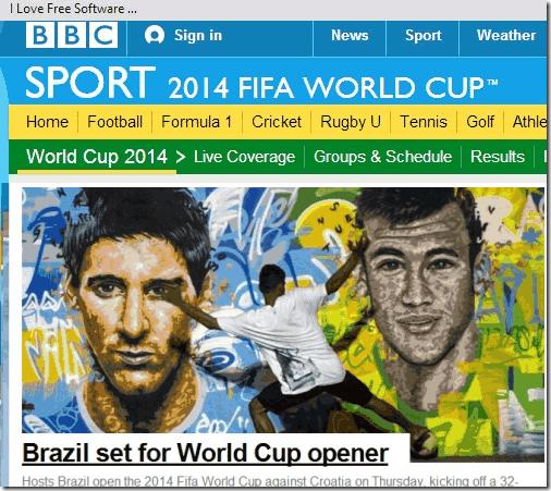 fifa world cup - BBC