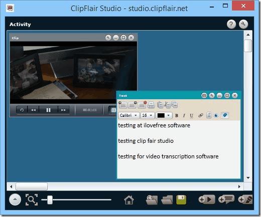 free transcription software - ClipFlair Studio