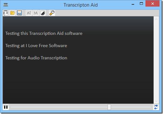 free transcription software - transcription Aid