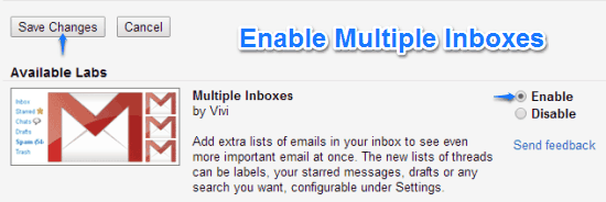 gmail labs enable m inboxes