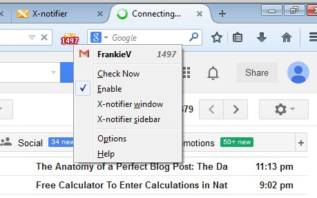 gmail notifier addons firefox 2