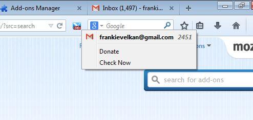 gmail notifier addons firefox 4