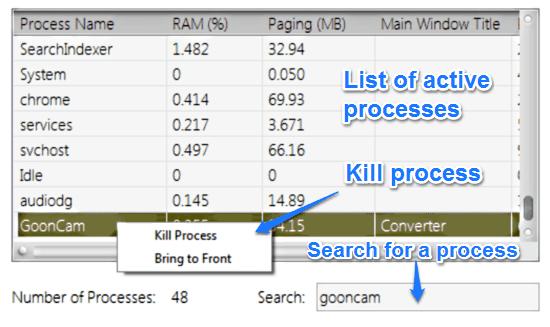 inerzia monitor process viewer