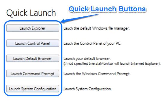 inerzia monitor quick launch